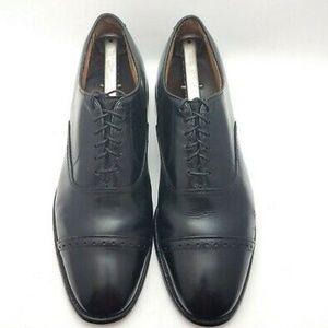 Allen Edmonds Byron Men's 10 D Shoes Black Captoe